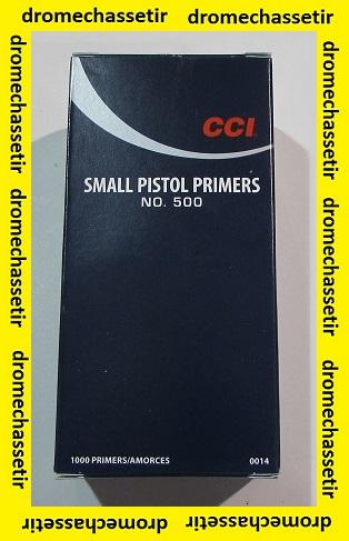 Boite de 1000 amrces Small Pistol CCI 500