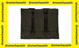 Triple porte chargeurs pour arme de poing (noir)
