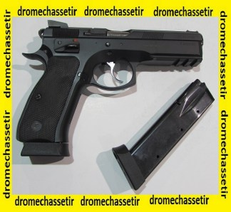 Pistolet Semi auto CZ 75 SP01 Shadow avec mallette et 1 chargeur supplementaire