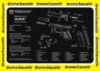 Tapis de nettoyage neoprene decor Pistolet GLOCK 42-43