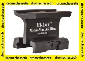 Rehausseur pour rail weaver et picatinny pour Micro max et Aimpoint