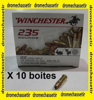 lot de 2350 cartouches 22lr Winchester Plated Hollow point (pointe creuse cuivrée)