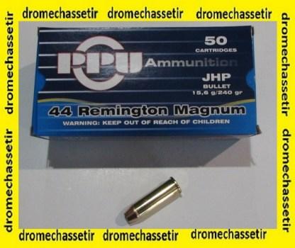 1 boite de 50 cartouches Partizan de calibre 44 Rem Mag