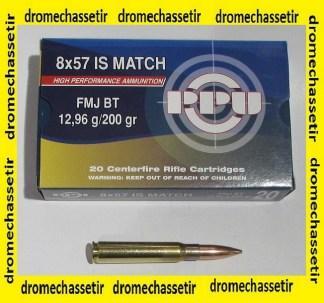 boite 20 cartouches Partizan Match de calibre 8x57IS
