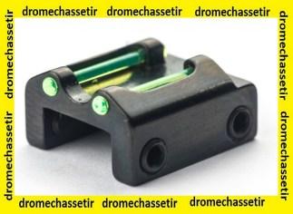 hausse a fixer sur bande ventilée de 8mm avec 2 fibre verte fluo