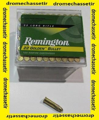 boite de 100 cartouches de 22Lr de marque Remington Golden Bullet