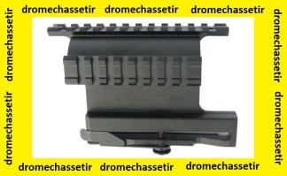 Montage a 2 rails picatinny lateral en 21mm de largeur pour AK47 et clones
