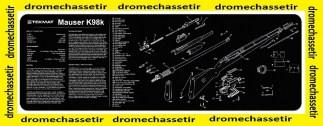 Tapis de nettoyage neoprene decor Mauser K98