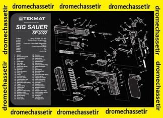 Tapis de nettoyage neoprene decor pistolet Sig Sauer 2022