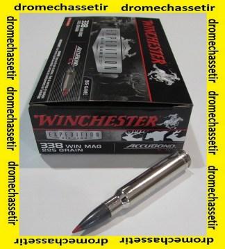 1 boite de 20 cartouches Winchester accubond 225 grains calibre 338 winchester Magnum