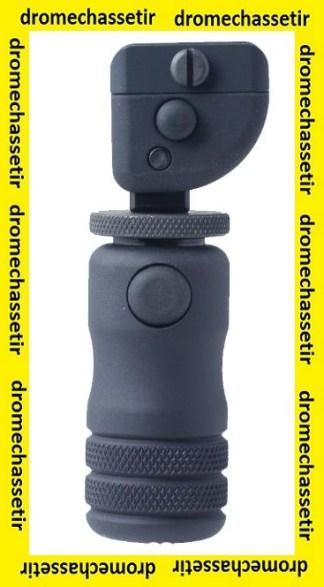 Monopod de crosse Accu-shot, reglable, fixation sur rail picatinny noir