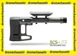 Crosse MDT Skeleton Carbine stock Lite avec appuie joue reglable, noir