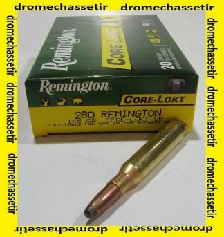 boite de 20 cartouches, cal 280 Remington, 165 grains core lokt soft point