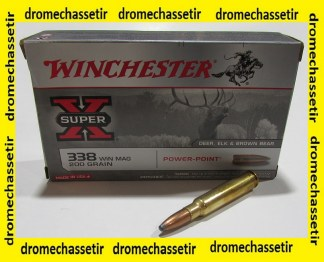 boite 20 cartouches calibre 338winchester magnum, Power point 200 grs