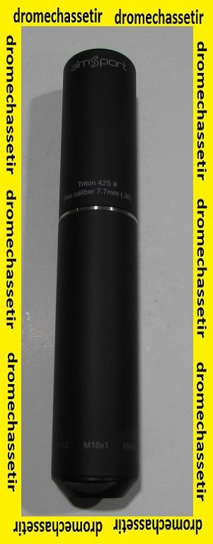 moderateur de son Aimsport Triton N°6, filetage 18x1, cal 7,7mm, Noir