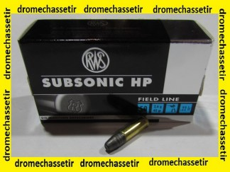 Boite 50 cartouches cal 22lr, RWS Subsonic HP, 40 grains