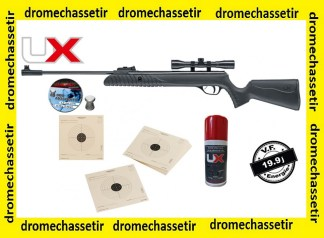 PACK CARABINE COMPOSITE SYRIX 4X32 19,9J, PLOMBS, CIBLES, HUILE