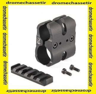 clamp pour rallonge magasin pour fusil, rail picatinny, anodisé noir