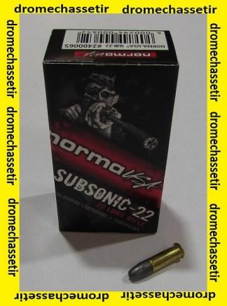 Boite 50 cartouches cal 22lr, Norma Subsonic HP 40 grains