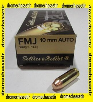 Boite 50 cartouches Sellier & Bellot, cal 10mm auto, FMJ 180 grains