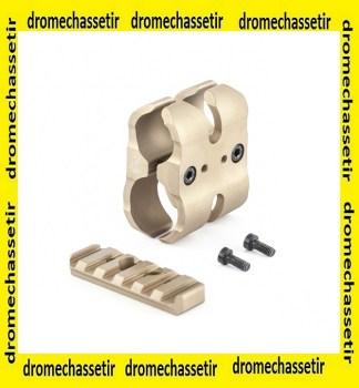 clamp pour rallonge magasin pour fusil, rail picatinny, anodisé sable
