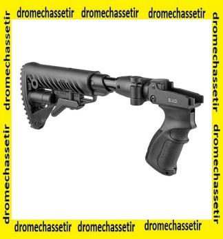 crosse Fab Defense pour Dragunov SVD, absorbeur de recul retractable et pliante, noire