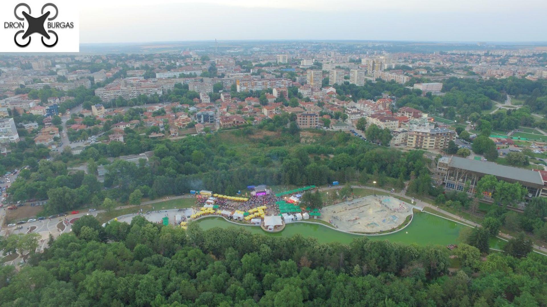 Дрон Бургас единствен показа фестивала отвисоко, като бяха запечатани красотите на Добрич