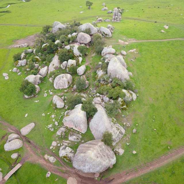 Foto aérea de las piedrotas en Tapalpa Jalisco