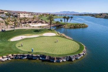 Golf lake Las Vegas drone