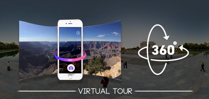 Place drone 360 ° Virtual Tours