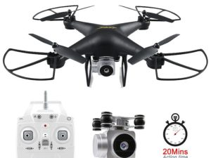drone-zoom - JJRC H68 RC Drone with Camera 720P Altitude Hold Quadrocopter Headless RC Helicopter Quadcopter with Camera 20Mins Long Fly Time