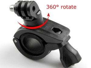 drone-zoom - 360 Degree Rotation Bike Bicycle Motorcycle Handlebar Handle Bar Mount Holder For Gopro Hero 8 7 6 5 4 SJCAM Camera Accessories
