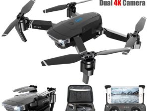 drone-zoom - SG901 Camera Drone 4K HD Dual Camera Follow Me Quadrocopter FPV Professional GPS Long Battery Life RC Helicopter Toy For Kid