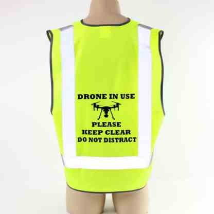 Drone Pilot Safety Vest M Series Drone in Use
