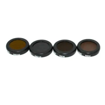 Filters for Mavic 2 Zoom ND4 ND8 ND16 ND32 4 Pack Pictured from above