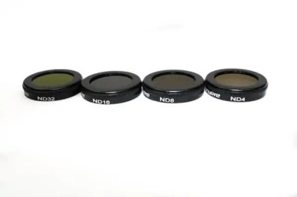 Filters for Mavic 2 Zoom ND4 ND8 ND16 ND32 4 Pack Pictured from side