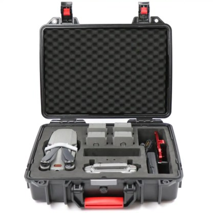 Smatree DH1000M2 ABS Hard Carry Case for Mavic 2 Internal Front View with Drone Included