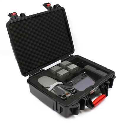 Smatree DH1000M2R ABS Hard Carry Case for Mavic 2 and Smart Controller Internal View with Smart Controller Angled