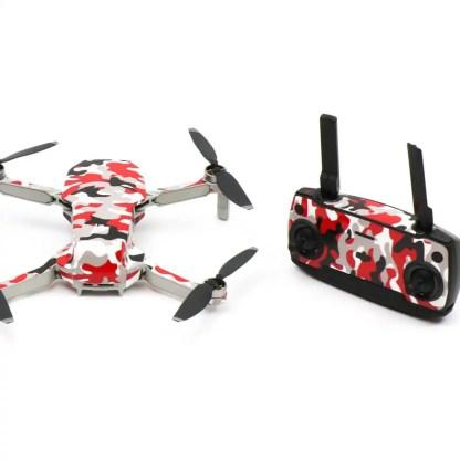 Camo Red Drone Skin Wrap Stickers for DJI Mavic Mini Rear View