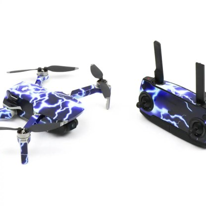 Lightning Drone Skin Wrap Stickers for DJI Mavic Mini Front View