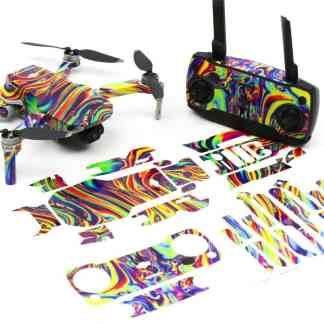 Psychedelic Drone Skin Wrap Stickers for DJI Mavic Mini Front View with Print Out