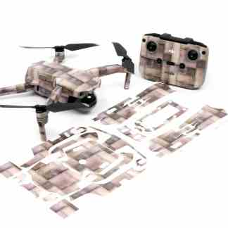 Metallic Rivets Strikes Drone Skin Wrap Decal Stickers for DJI Mavic Air 2 Applied to Drone and Remote with Print Out