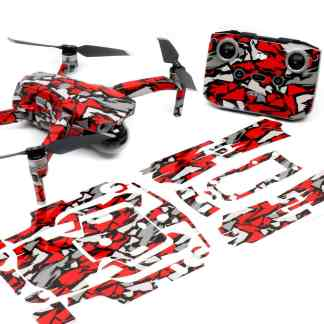 Red Rock Drone Skin Wrap Decal Stickers for DJI Mavic Air 2 Applied to Drone and Remote with Print Out