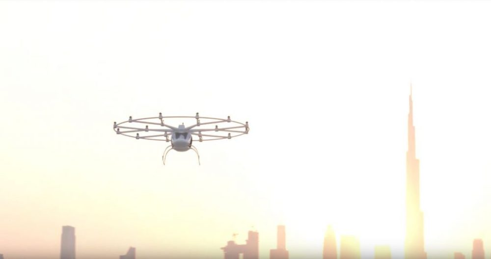 First ever public demonstration of an autonomous urban air taxi in a mega city by volocopter
