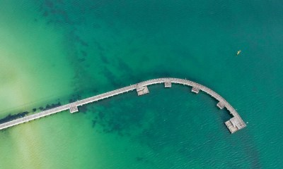 aerial view of the Port Melbourne pier