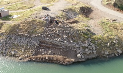 The defensive wall of the Assyrian fort at Usu Aska