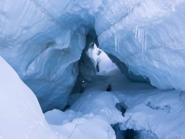 Flyability Elios in Action - Glacier