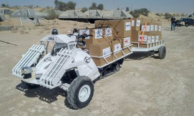 The URS Laboratories Limited SXM Series is both a manned and semi-autonomous unmanned ground vehicle (UGV), which is proven rugged and reliable by operators globally.