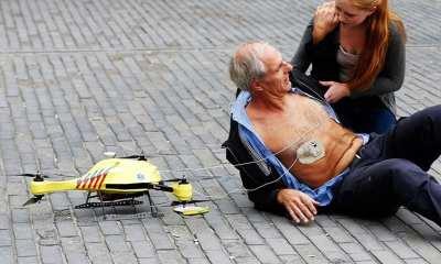 Ambulance Drone helps a man suffering cardiac arrest