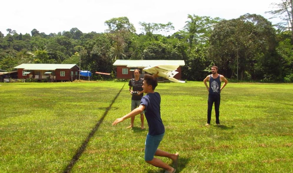 Launching the drone | Hornbill Surveys